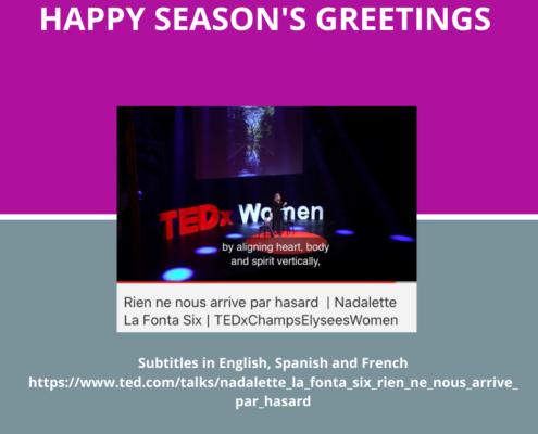 Season's Greetings with TEDX