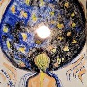 Nouvelle conscience avec l'intégration du féminin et du masculin , dessin de Sophie Giret