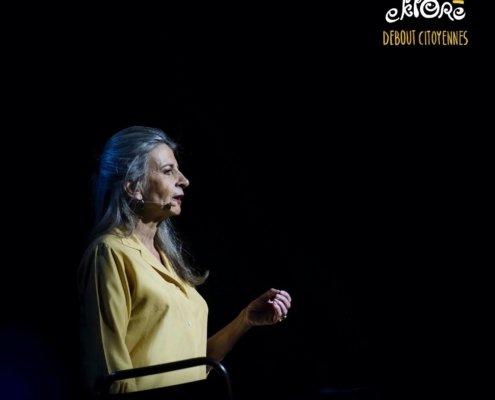 Nadalette La Fonta est la voix de la verticalité sur la scène de Debout Citoyennes